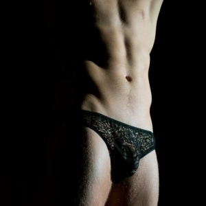 lace men lingerie lace black panty