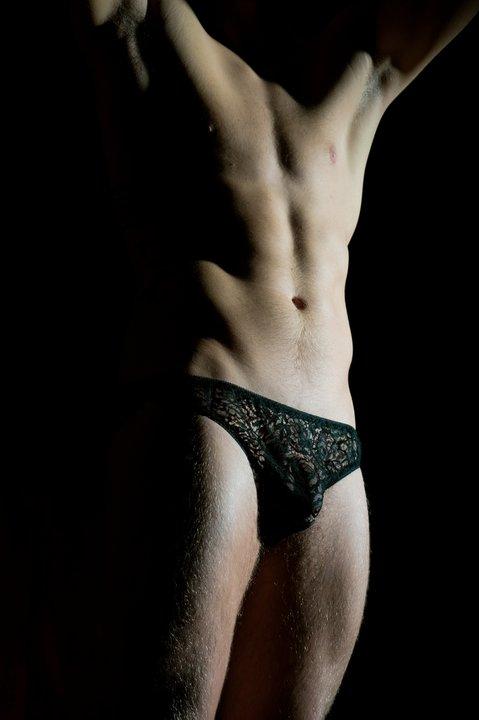lace men lingerie lace black panty
