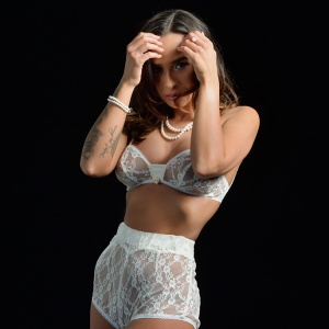 full lace floral pattern white high waist hot panty Hot Pant French Knickers